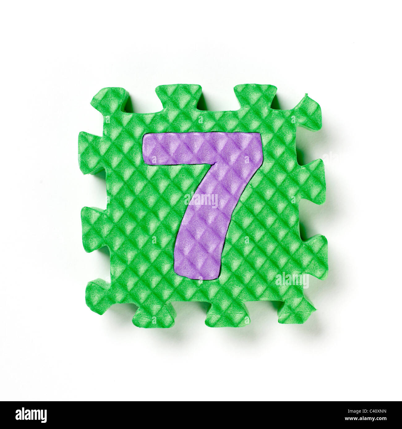 Puzzle piece number four 4 - Stock Image