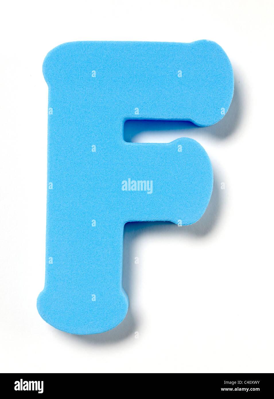 Foam letter F - Stock Image