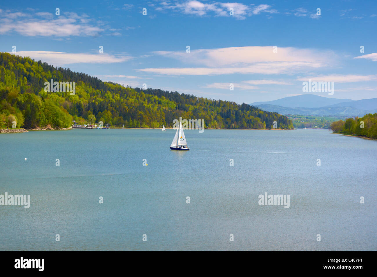 Zywiecki lake, Silesia region, Poland - Stock Image
