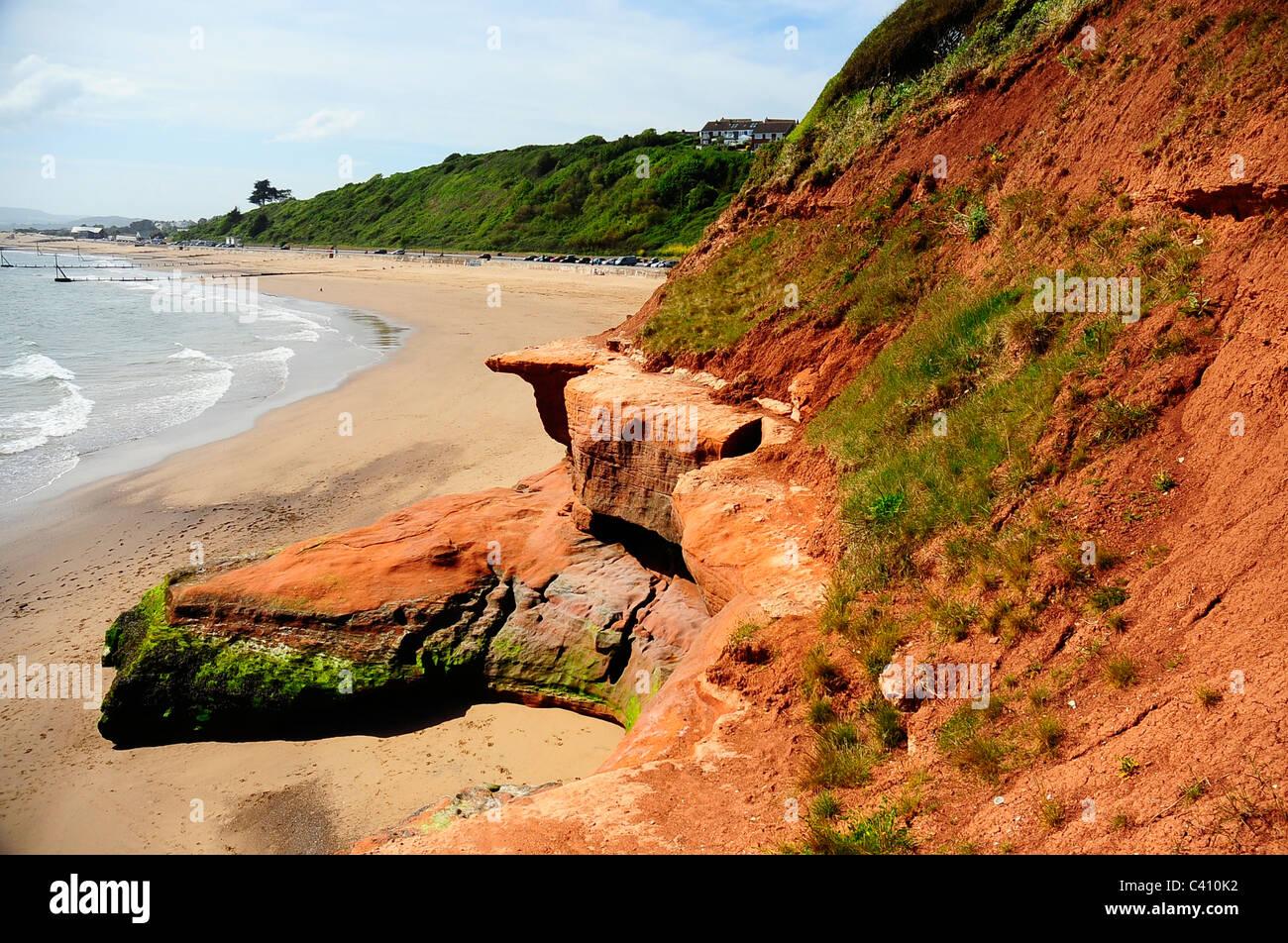 Orcombe point - Exmouth beach - Devon - UK - Stock Image