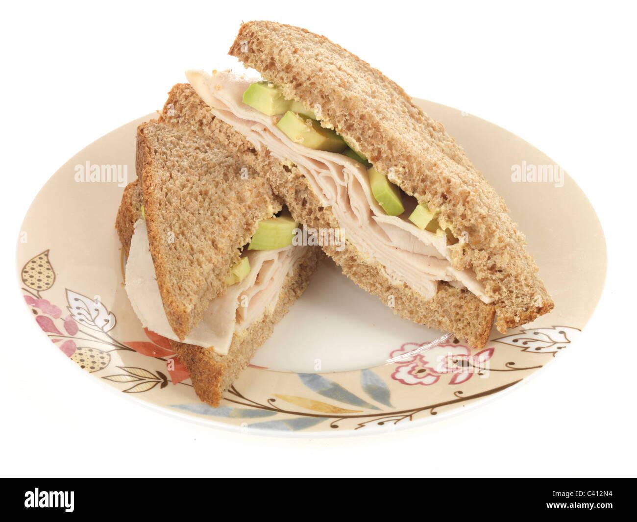 Chicken and Avacado Sandwich Stock Photo
