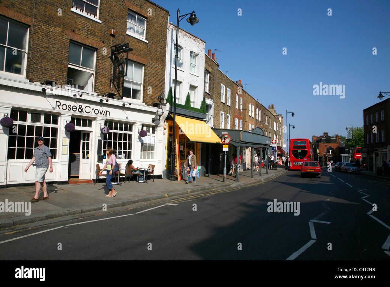Highgate High Street, Highgate, London, UK - Stock Image