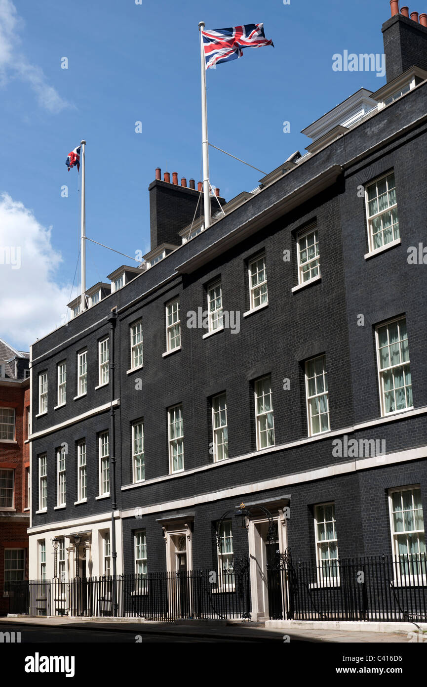 Downing Street, Westminster, London, England. May 2011. Home of the British Prime Minister at Number 10. - Stock Image
