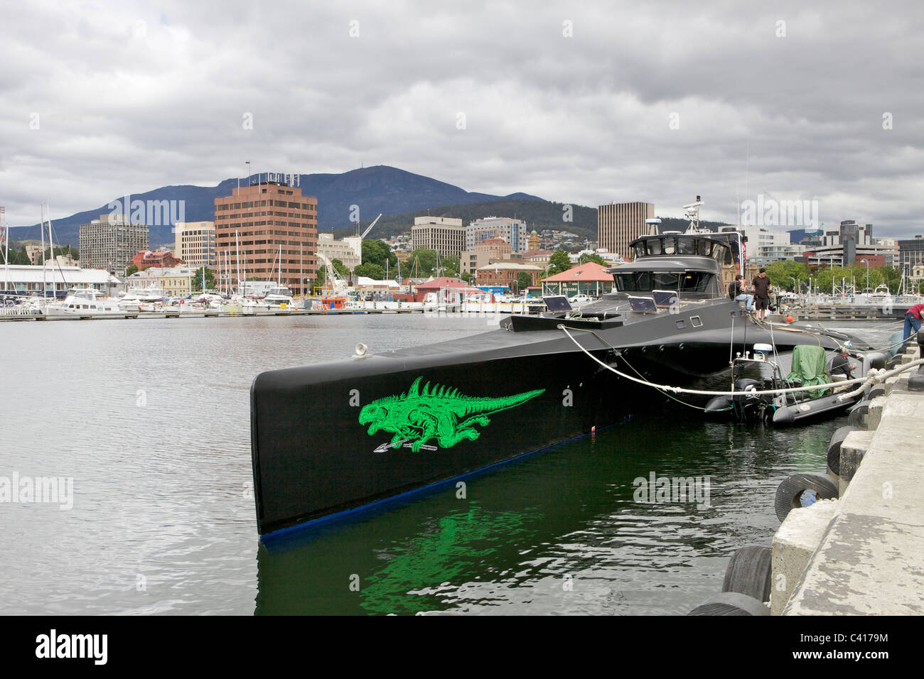 Sea Shepherd's Gojira in Tasmania, Australia. Start of summer, 2010 - Stock Image