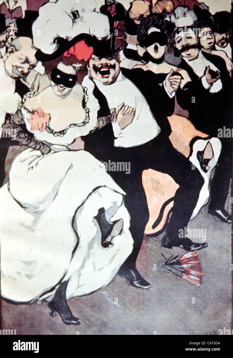 dance, cakewalk, Francaise, Munich, circa 1900, Additional-Rights-Clearences-NA - Stock Image
