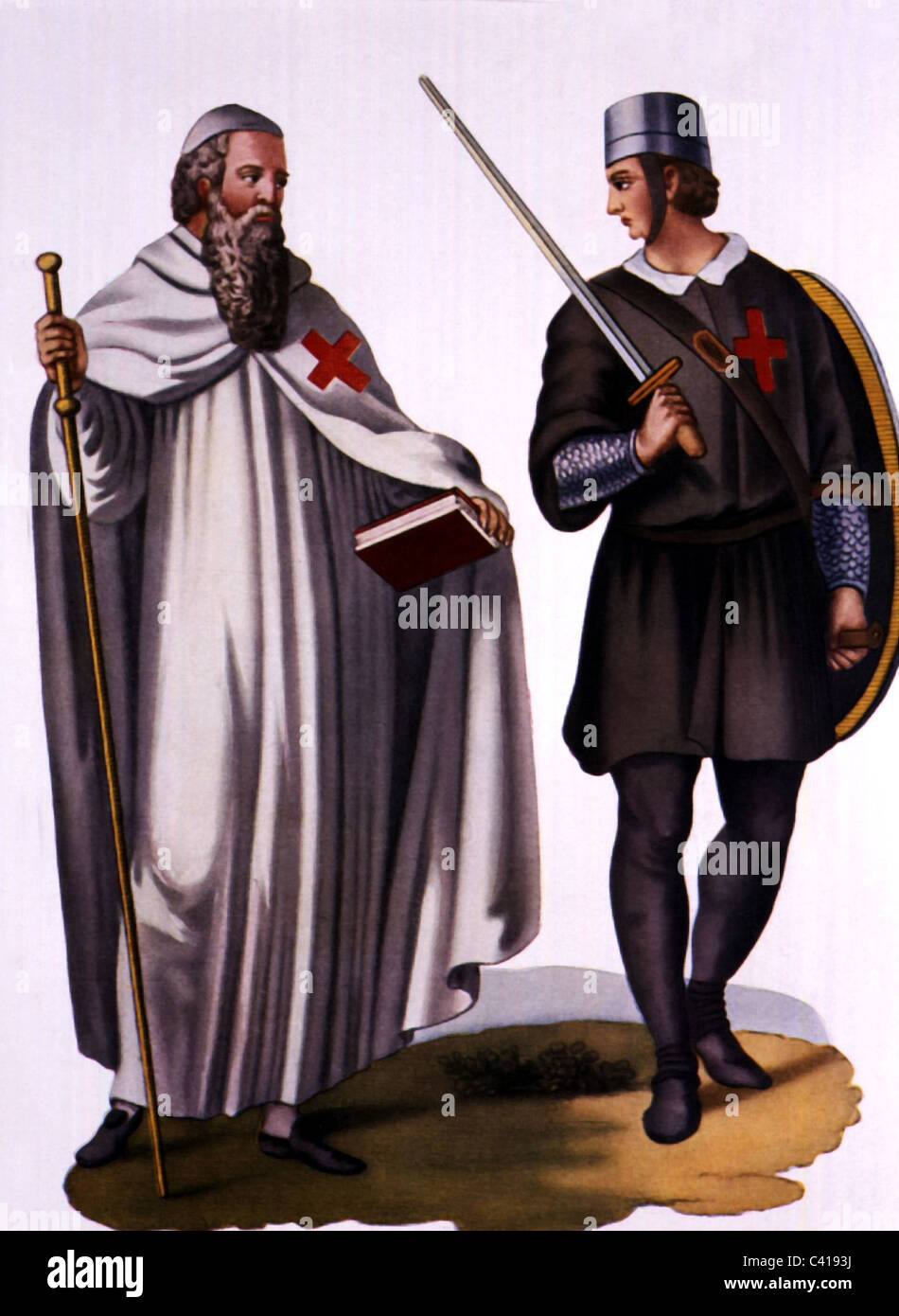 Middle Ages, crusades, knight's order, Order of the Knights Templar, (Pauperes commilitones Christi templique - Stock Image
