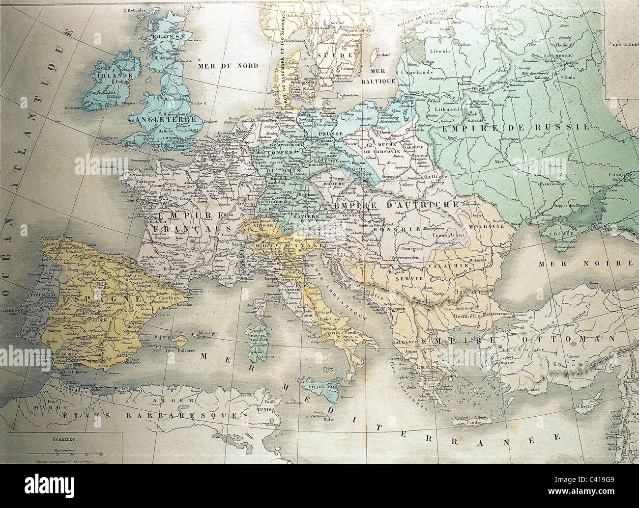 maps historical maps Europe circa 1810 under