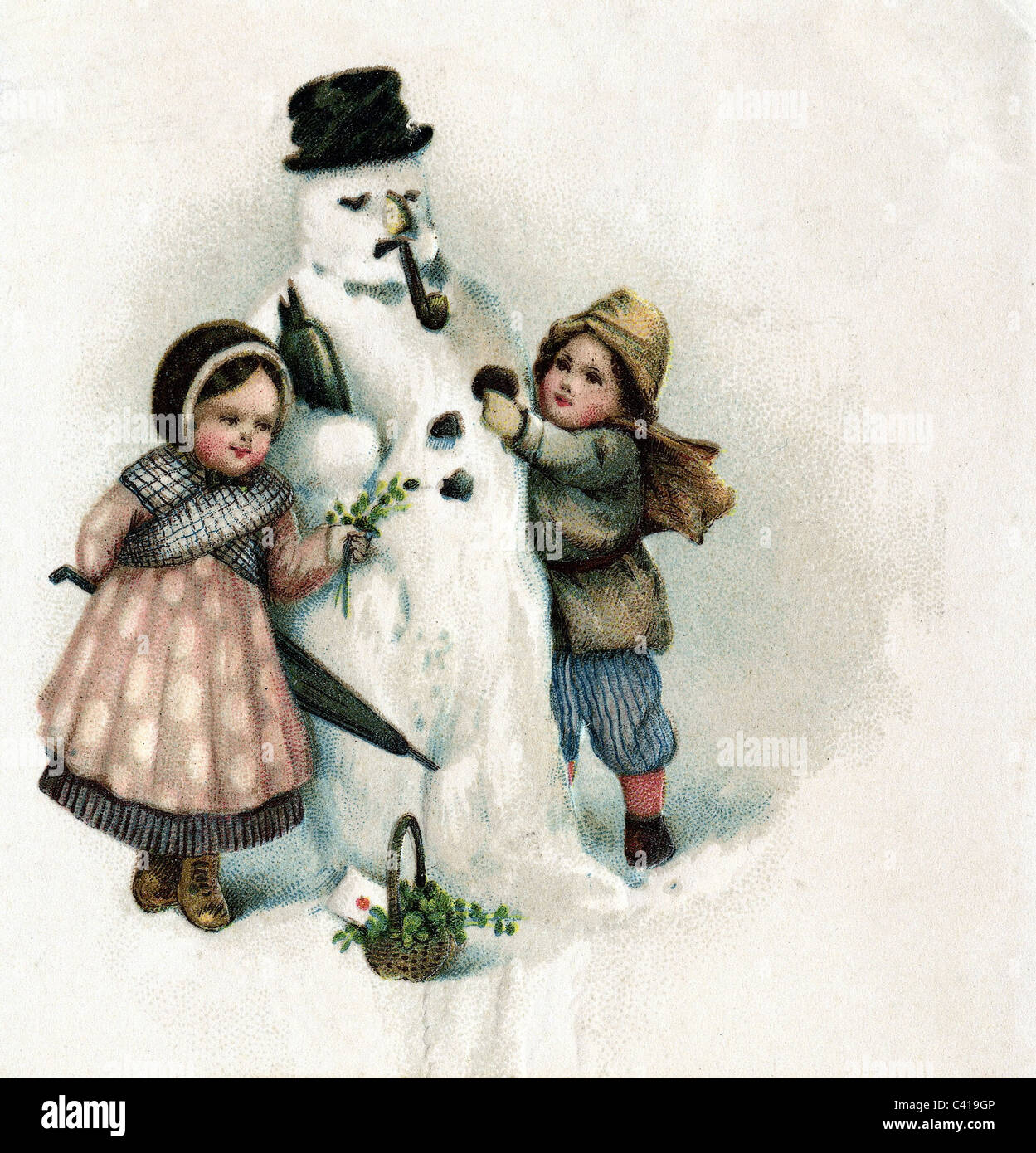 festivity, Christmas, greetings card, 1912, Additional-Rights-Clearences-NA - Stock Image