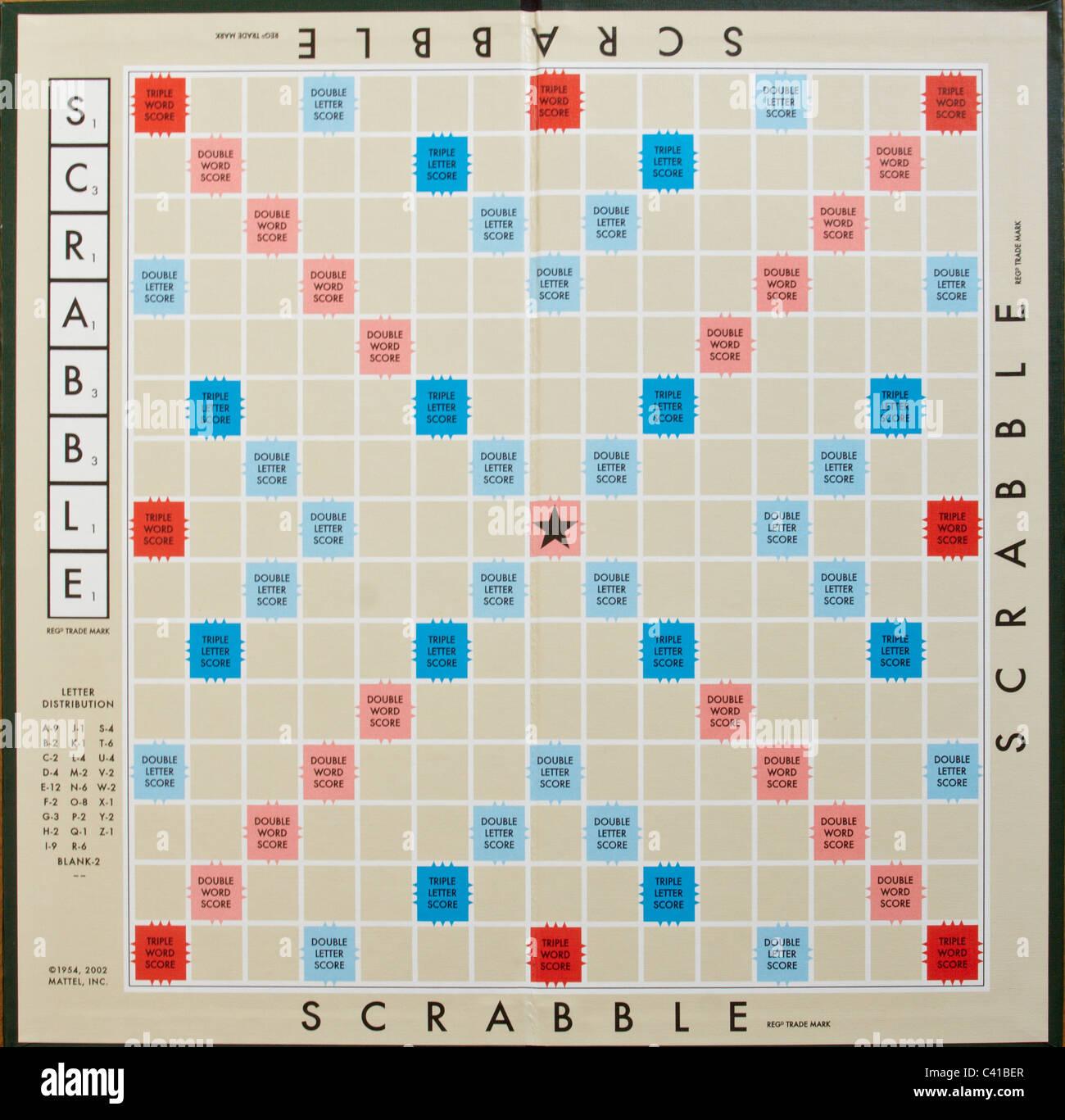 Scrabble Board Blank Stock Photos