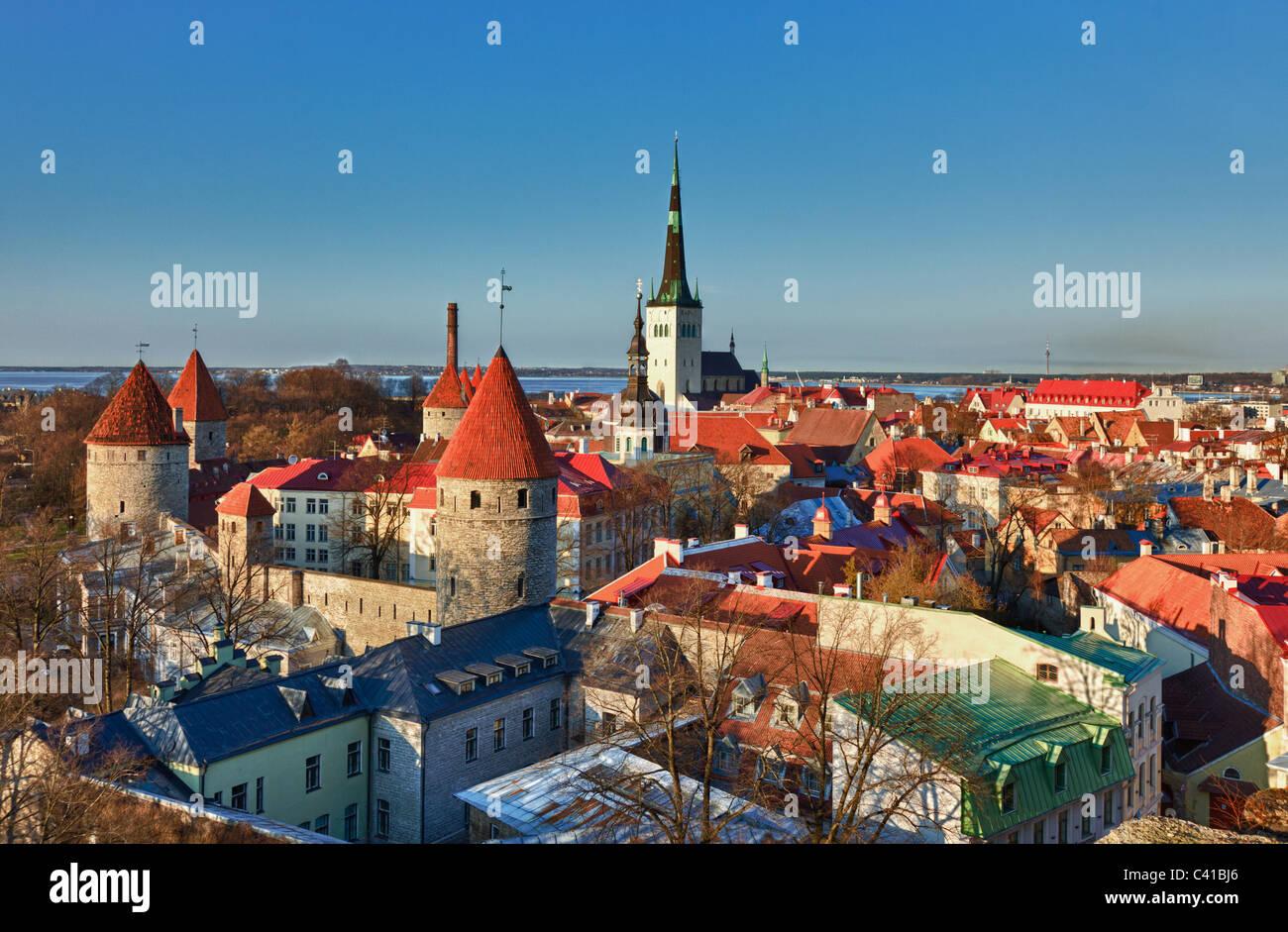 Tallinn, Estonia - skyline / cityscape - Stock Image