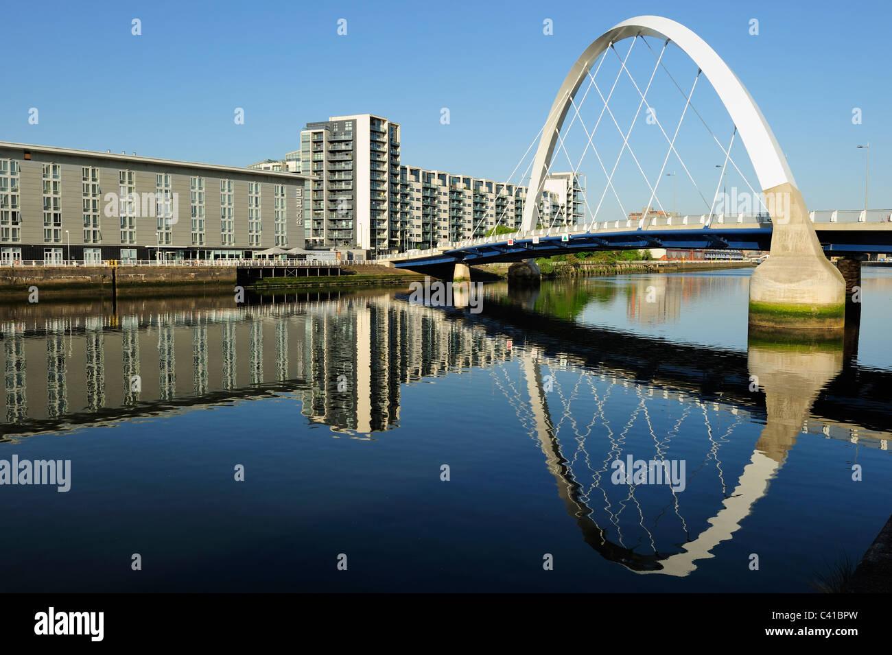 Clyde Arc Bridge at Finnieston, Glasgow, Scotland - Stock Image