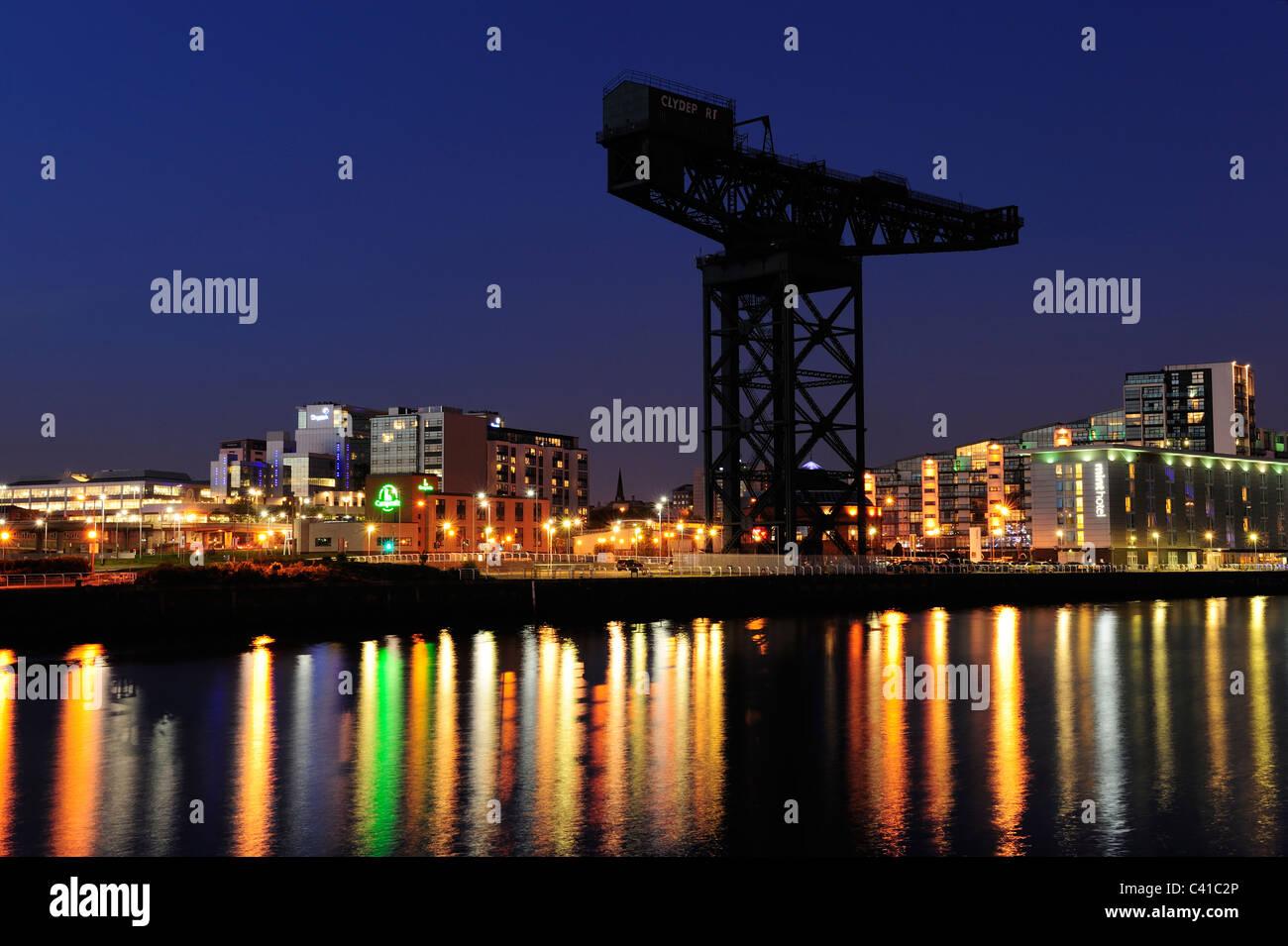 Finnieston Crane at night, Glasgow, Scotland - Stock Image