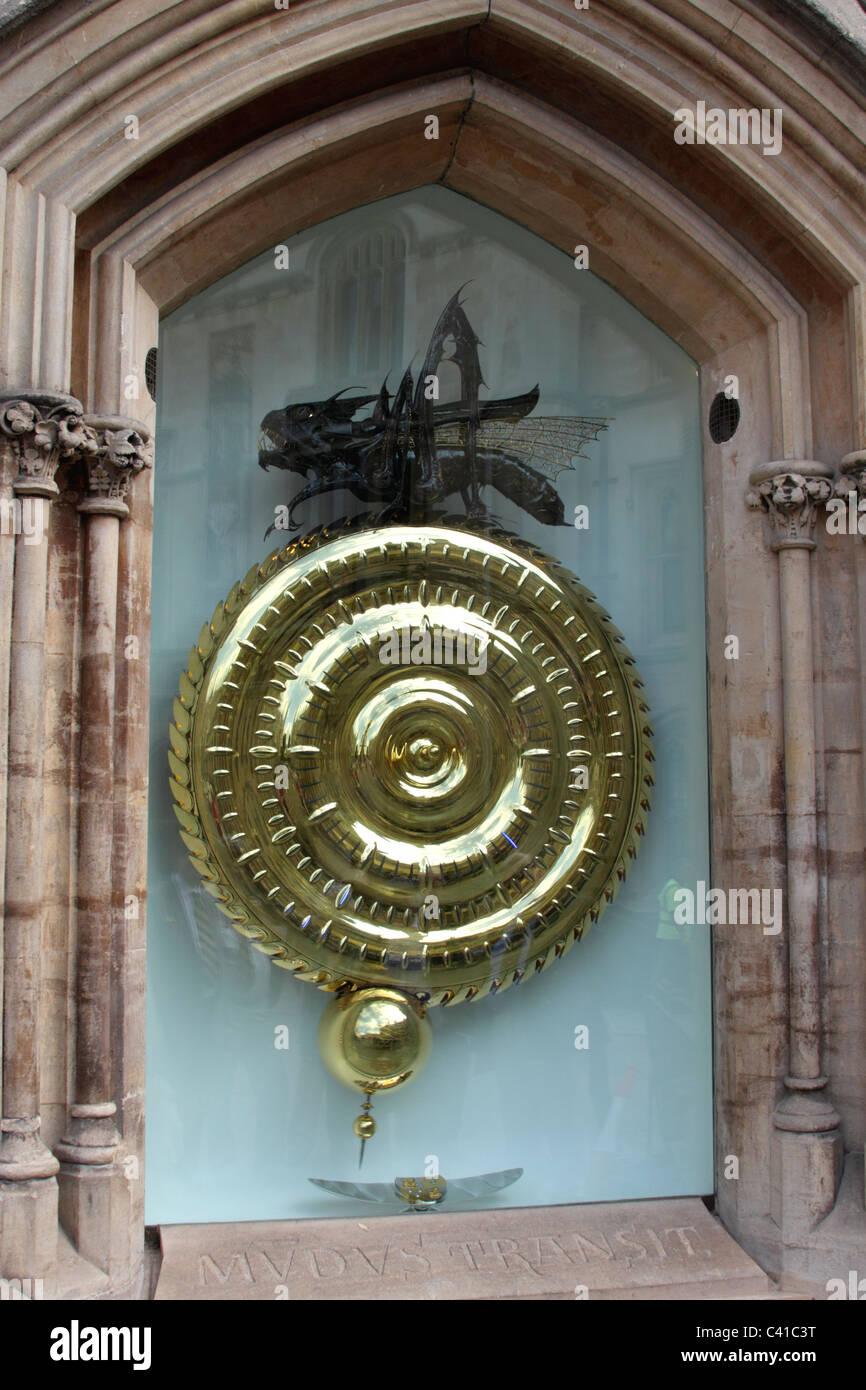 The Grasshopper Clock Corpus Christi College Cambridge Stock Photo