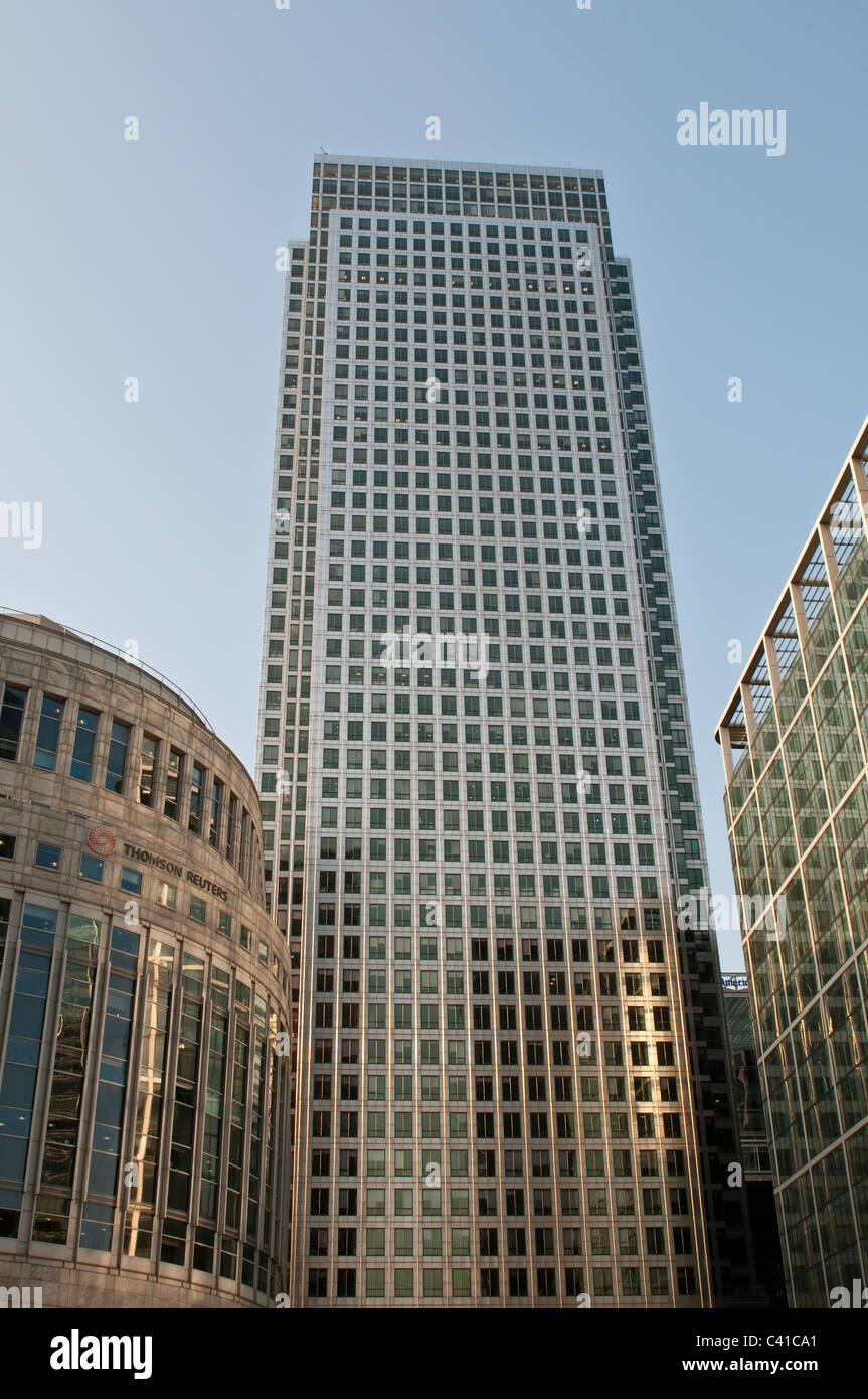 One Canada Square skyscraper, Canary Wharf, London, UK - Stock Image