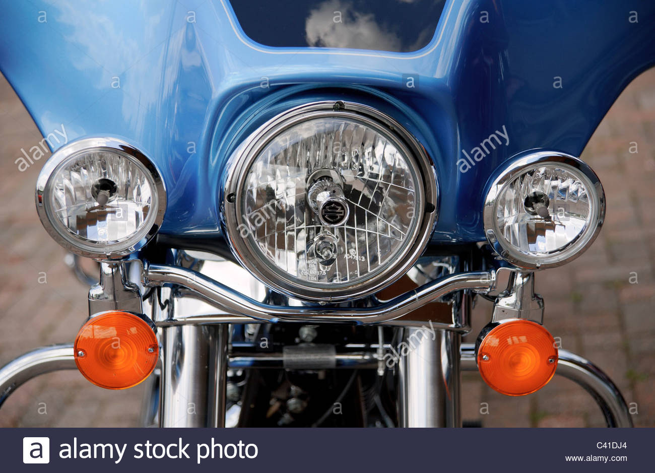 Turn Signals Stock Photos Images Alamy Detail Of And Headlights Harley Davidson Motorcycle Image