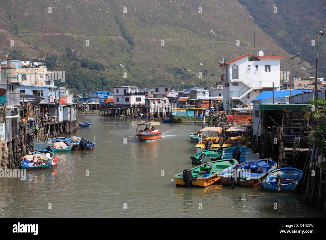 Tai O, Fishing Village, Lantau Island, Hong Kong, China, Asia - Stock Image
