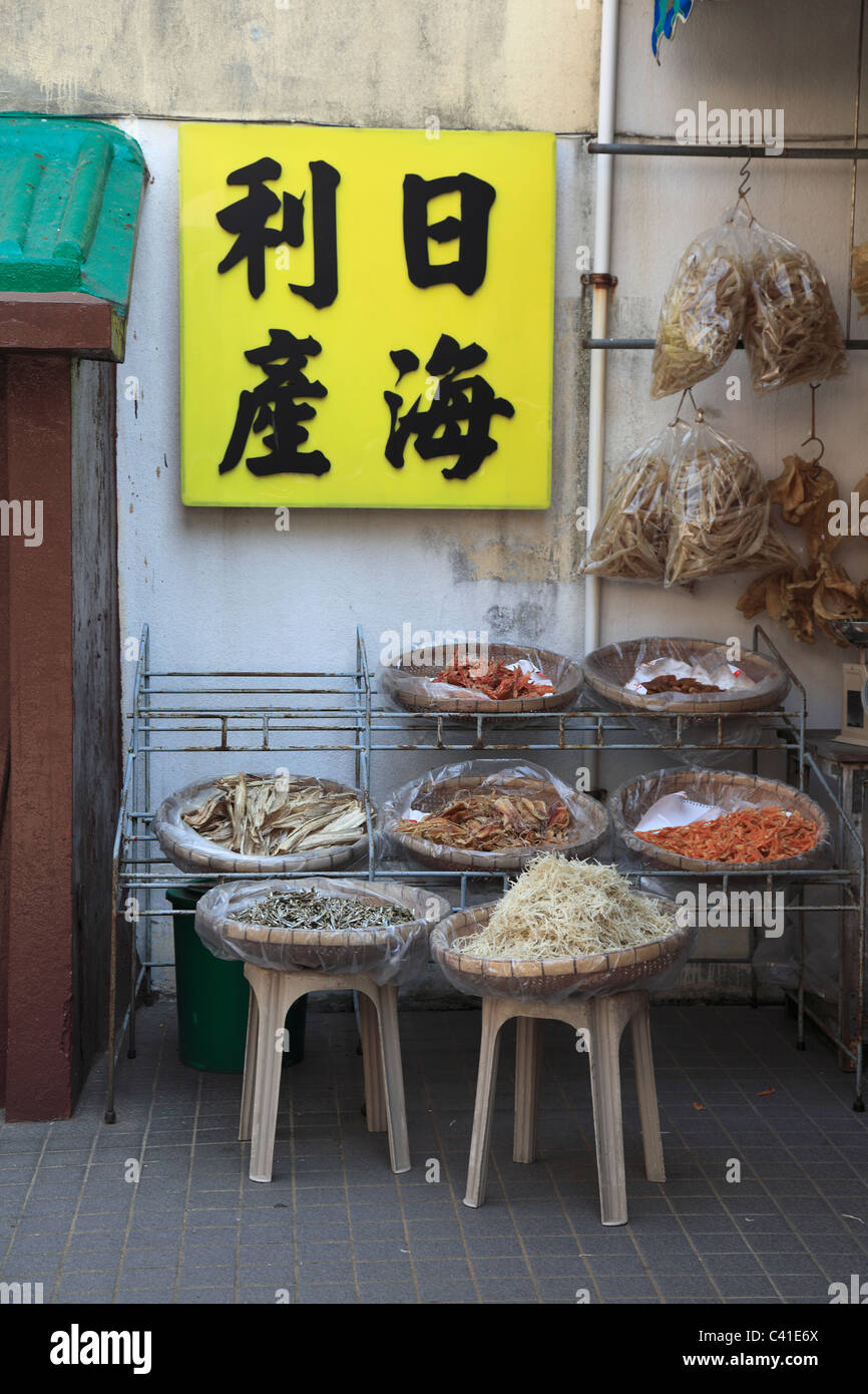 Market, Tai O, Fishing Village, Lantau Island, Hong Kong, China, Asia - Stock Image