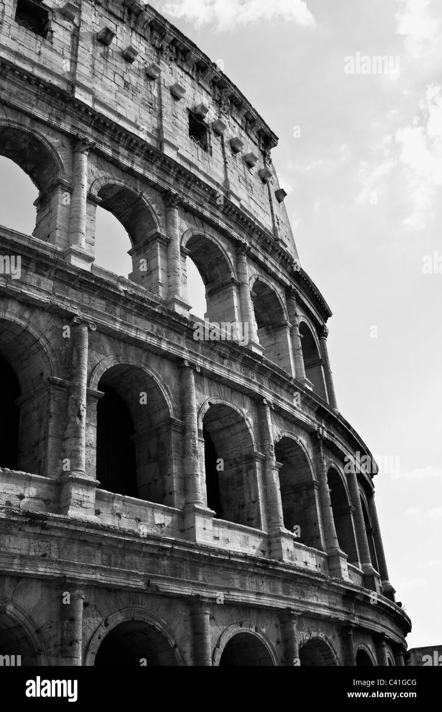 Exterior of the colosseum rome italy stock image