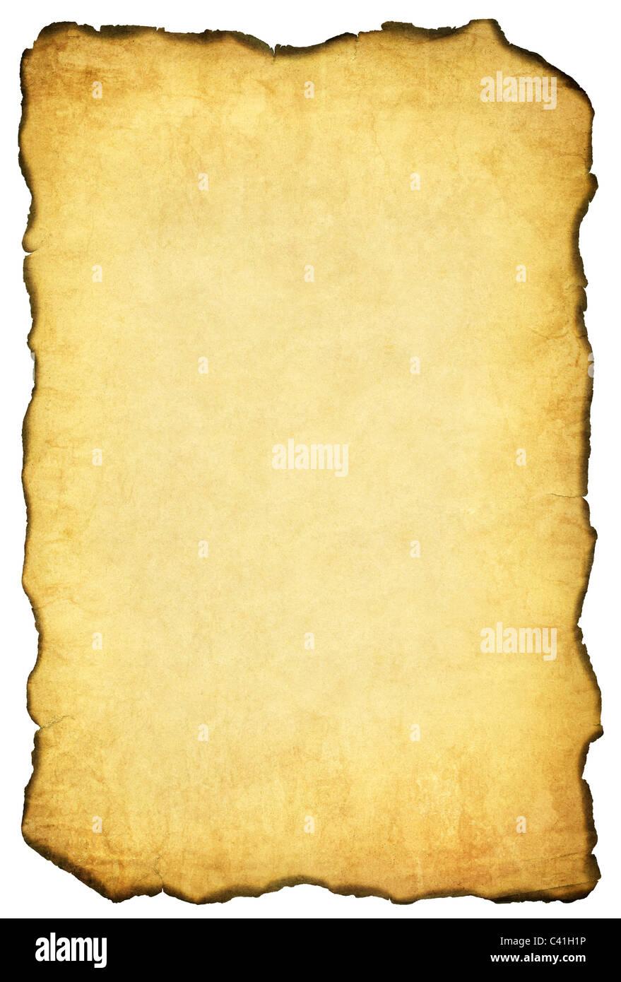 Burnt vintage paper background - Stock Image