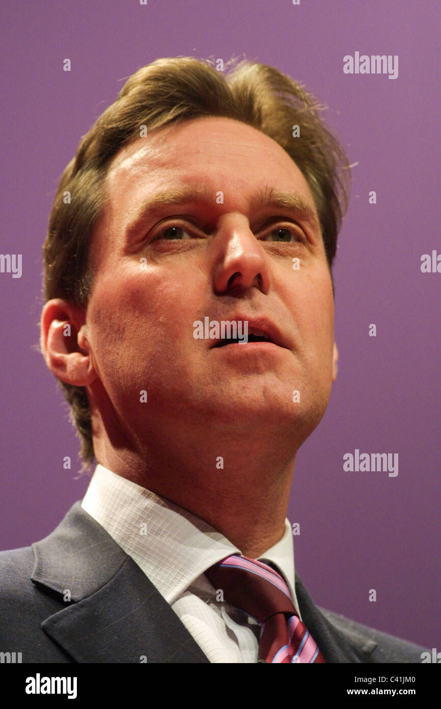 ALAN MILBURN, Labour Party conference, in Glasgow, Scotland, 16th February 2003. - Stock Image