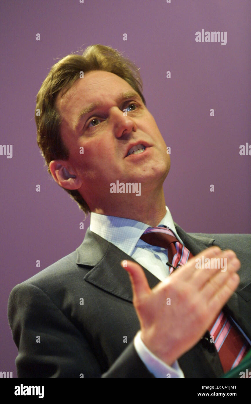 ALAN MILBURN, Labour Party conference, in Glasgow, Scotland, 16th February 2003. Stock Photo