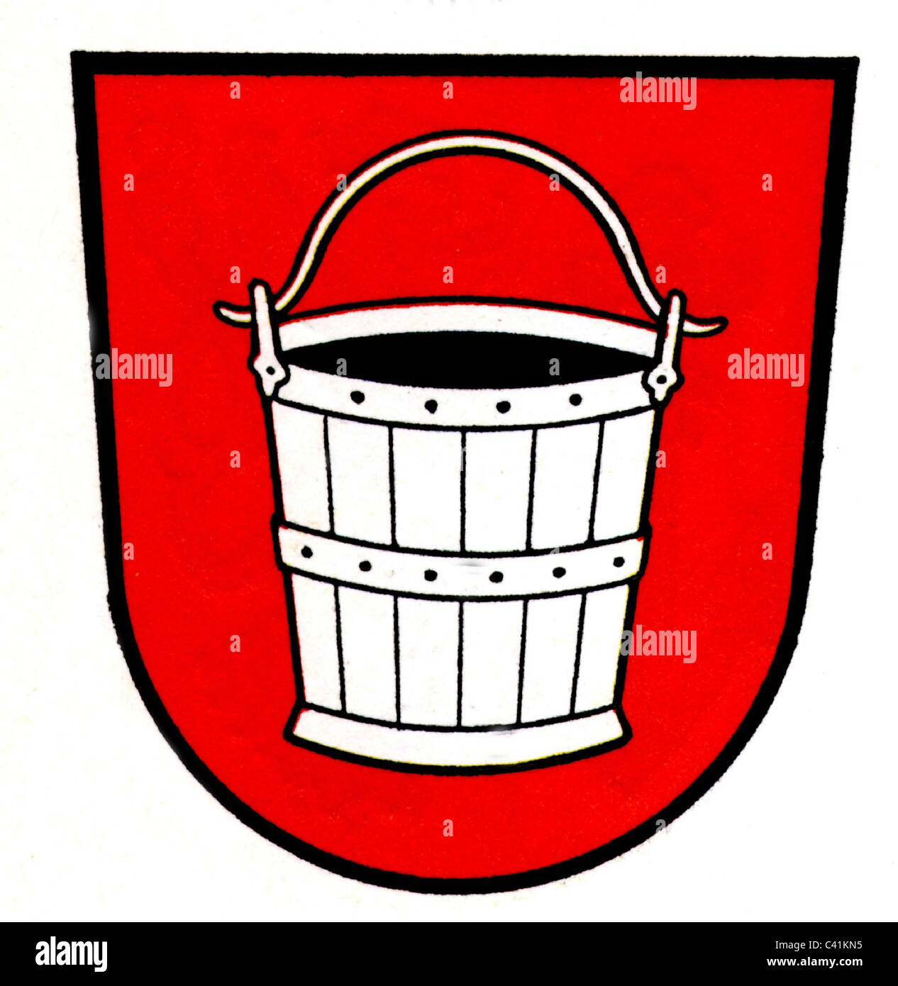 coat of arms / emblems, Emmerich am Rhein, city arms, North Rhine-Westphalia, Germany, Additional-Rights-Clearences - Stock Image