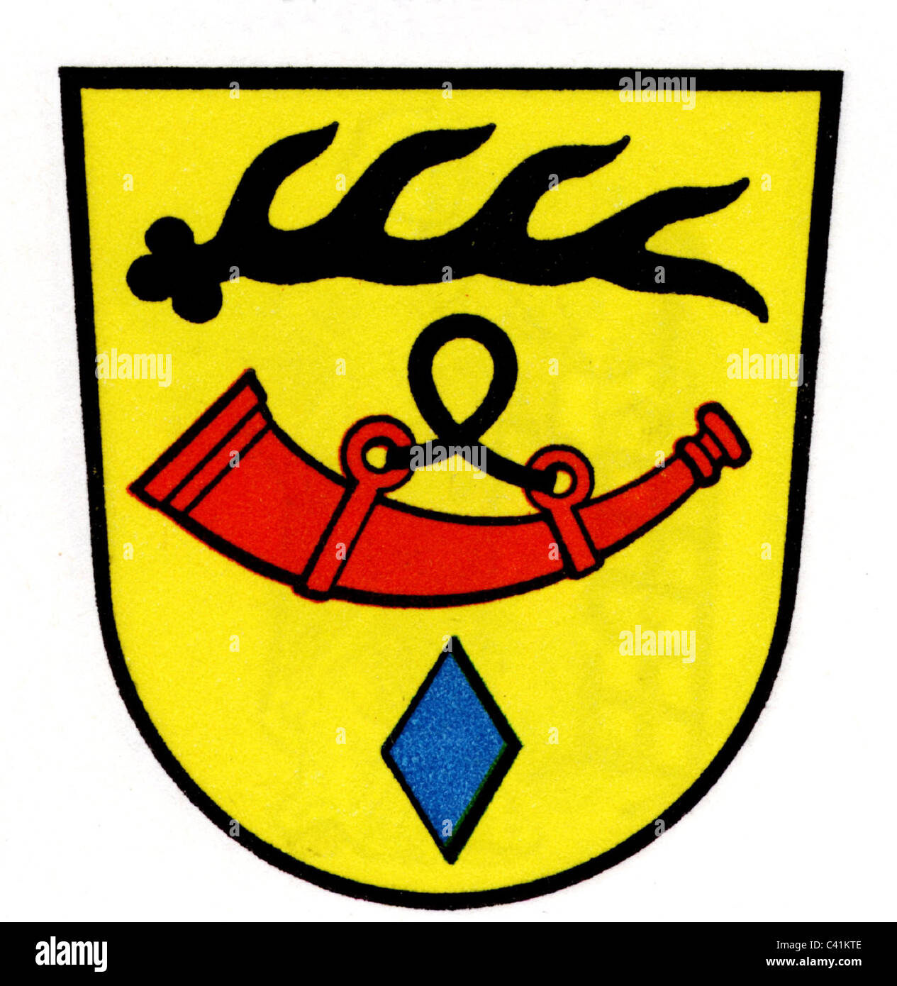 coat of arms / emblems, Nuertingen, city arms, Baden-Wuerttemberg, Germany, Additional-Rights-Clearences-NA - Stock Image