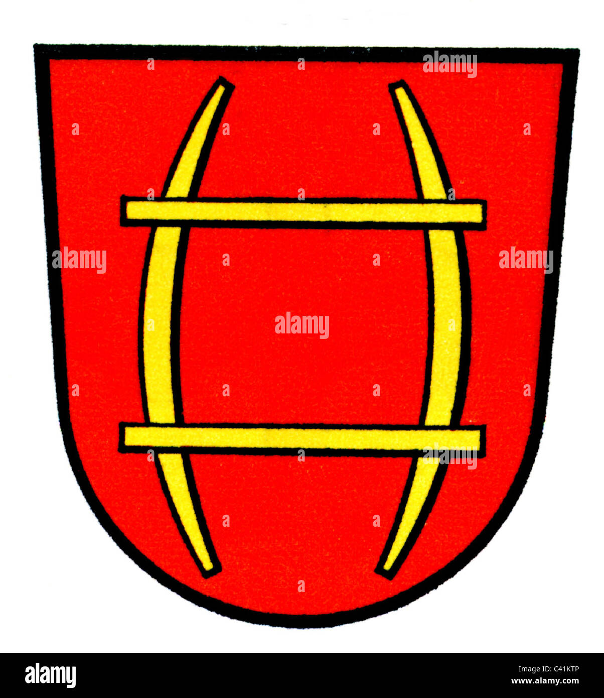 coat of arms / emblems, Rastatt, old city arms, used until 1995, Baden-Wuerttemberg, Germany, Additional-Rights - Stock Image