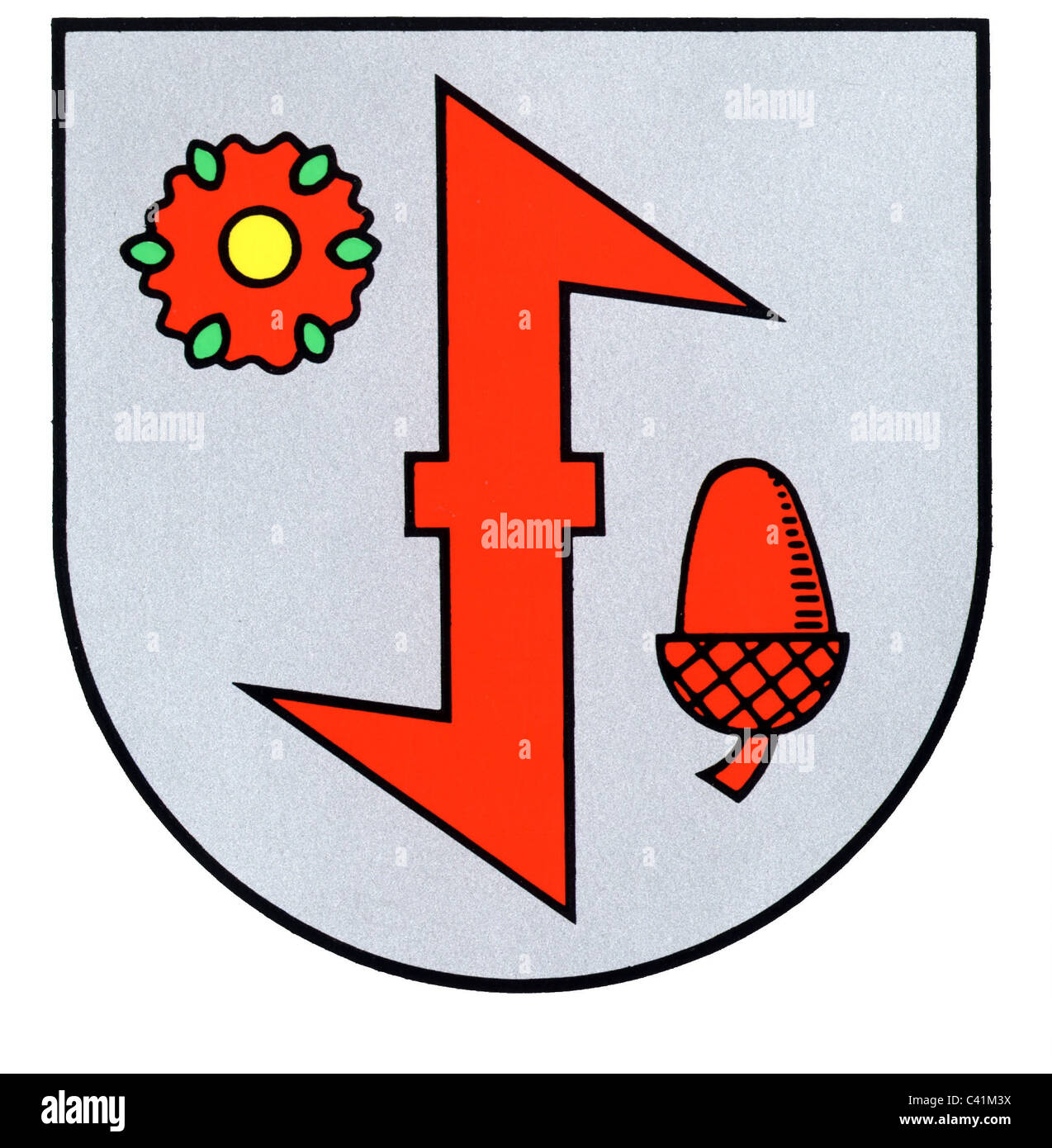 coat of arms / emblems, Idar-Oberstein, city arms, Rhineland-Palatinate, Germany, Additional-Rights-Clearences-NAStock Photo