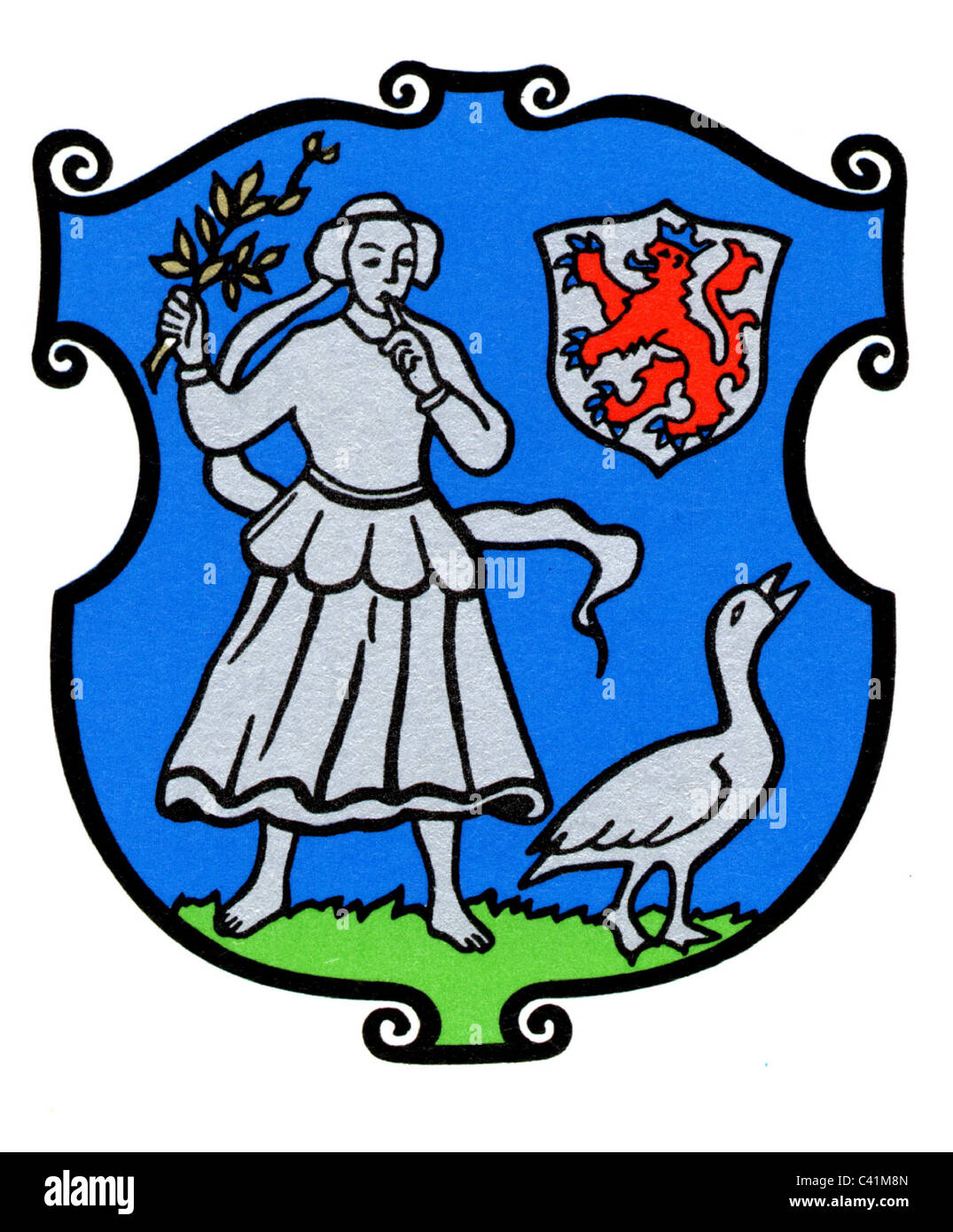 coat of arms / emblems, Monheim am Rhein, city arms, North Rhine-Westphalia, Germany, Additional-Rights-Clearences - Stock Image