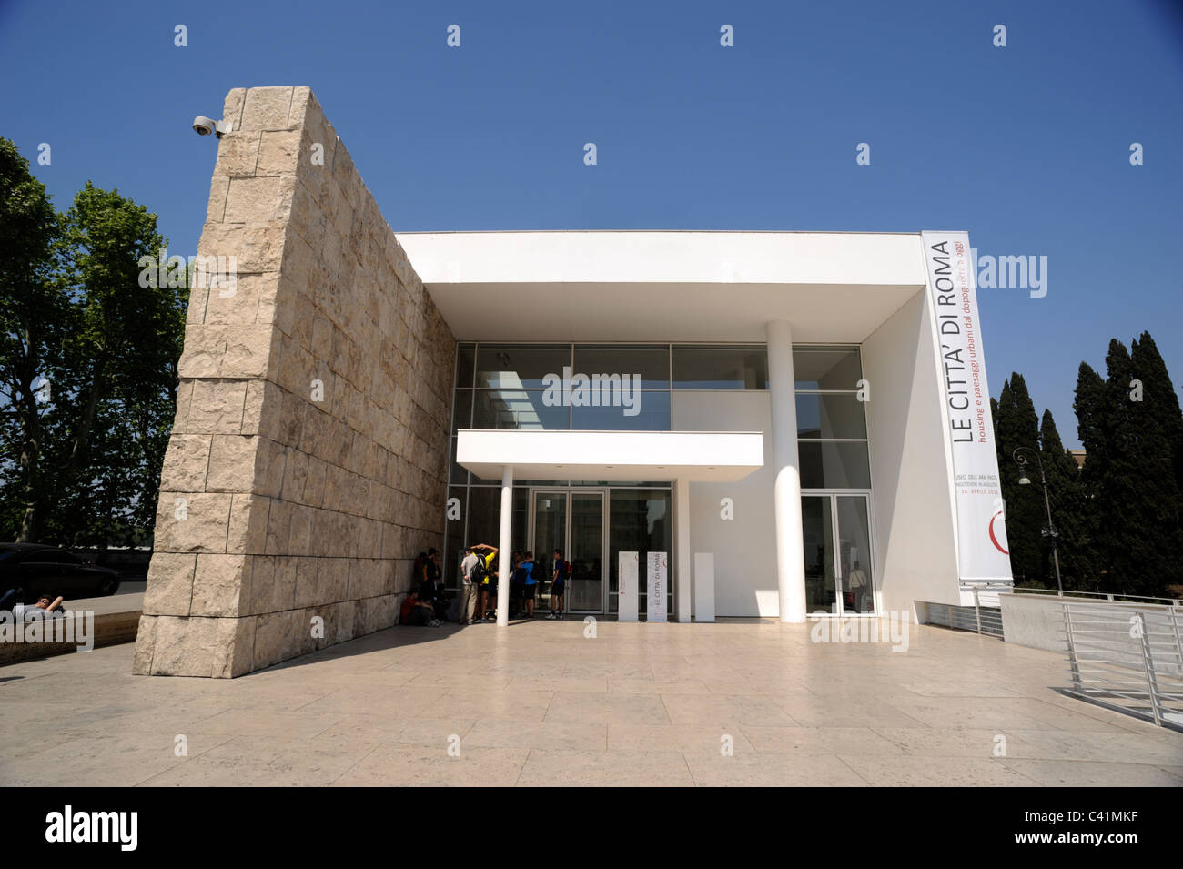 Italy Rome Ara Pacis New Building Architect Richard Meier Stock Photo Alamy
