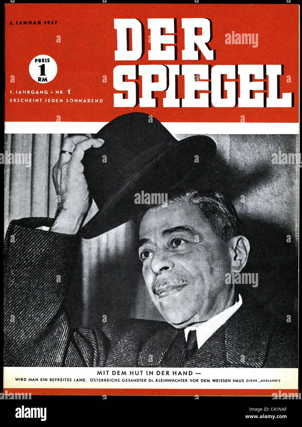 Press Media Magazine Der Spiegel Cover 1st Volume Number 1