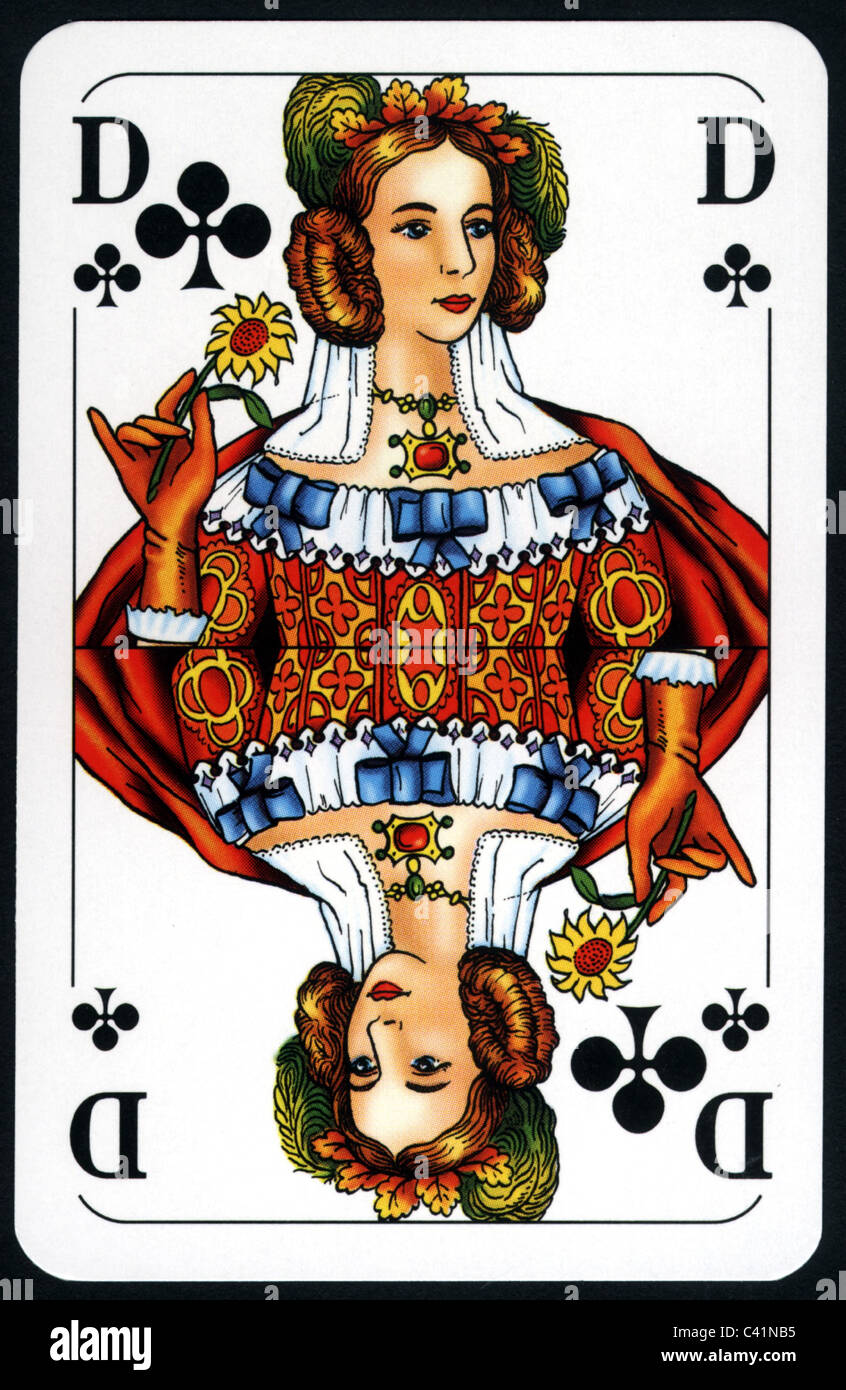 Game Playing Card Clubs Queen Games Cards French Of Clippi
