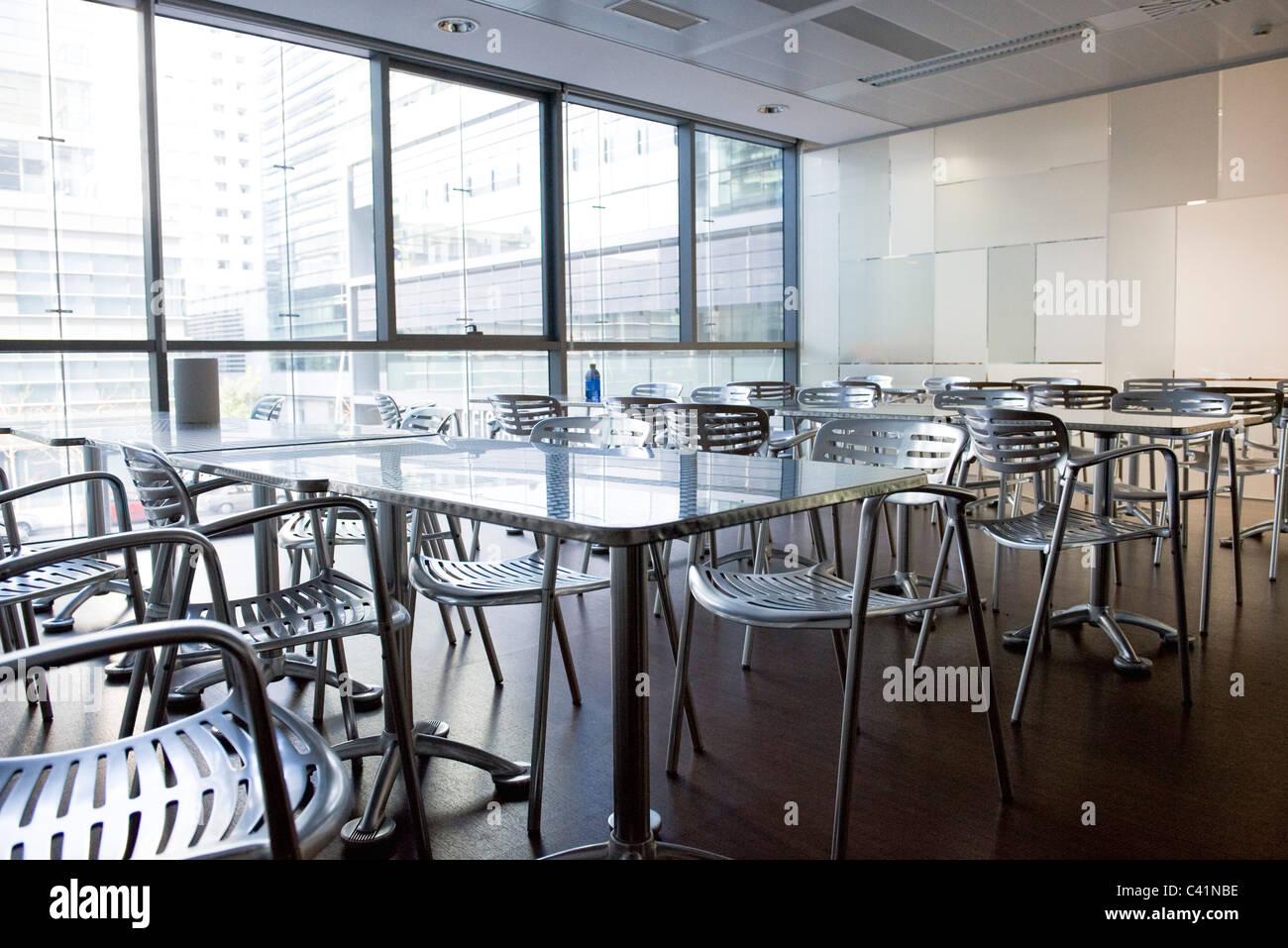 Empty cafeteria - Stock Image
