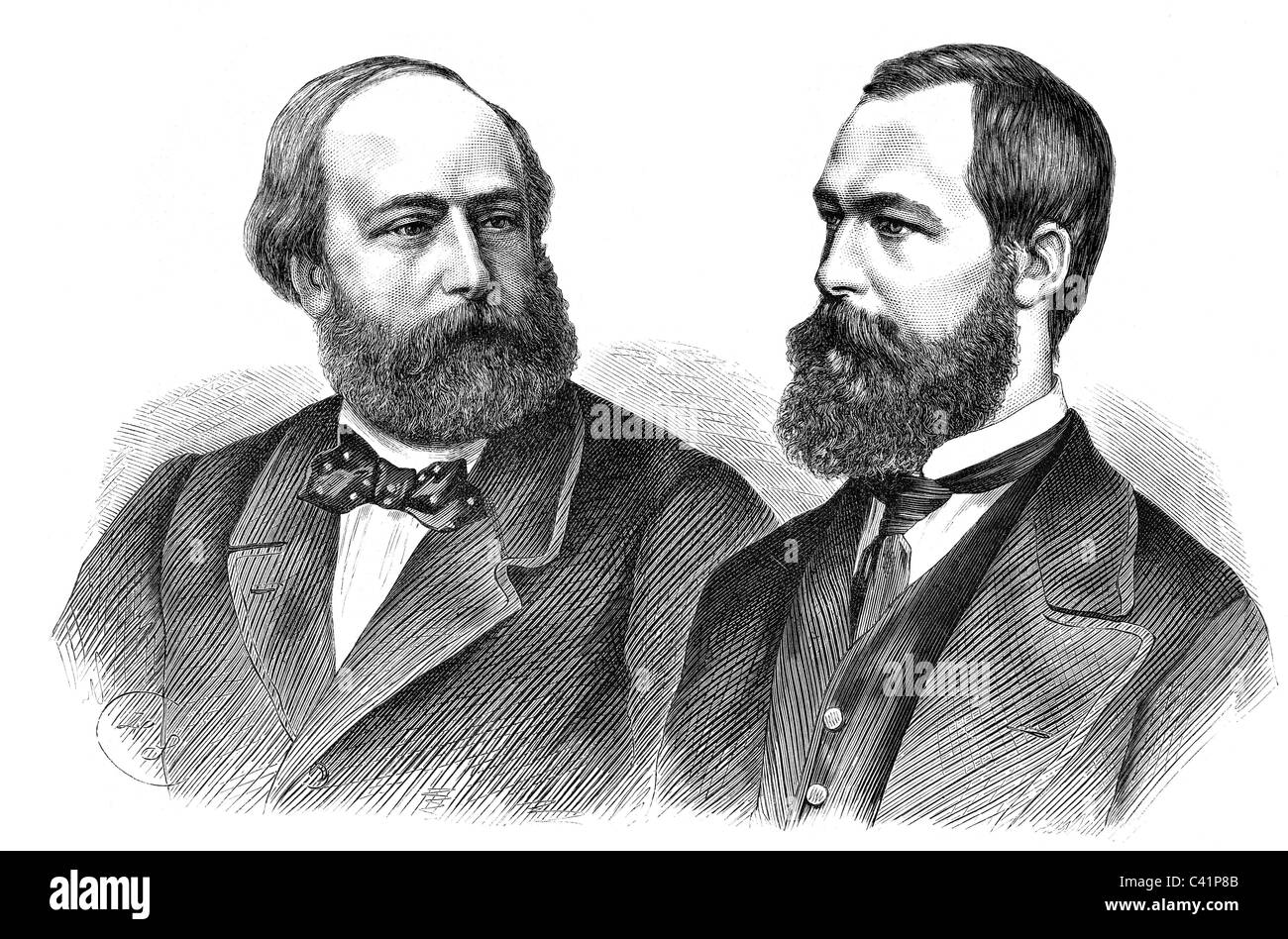 Henry Charles 29.9.1820 - 24.8.1883, Count of Chambord, Pretender to the Throne of France 1836 - 1883, portrait, - Stock Image