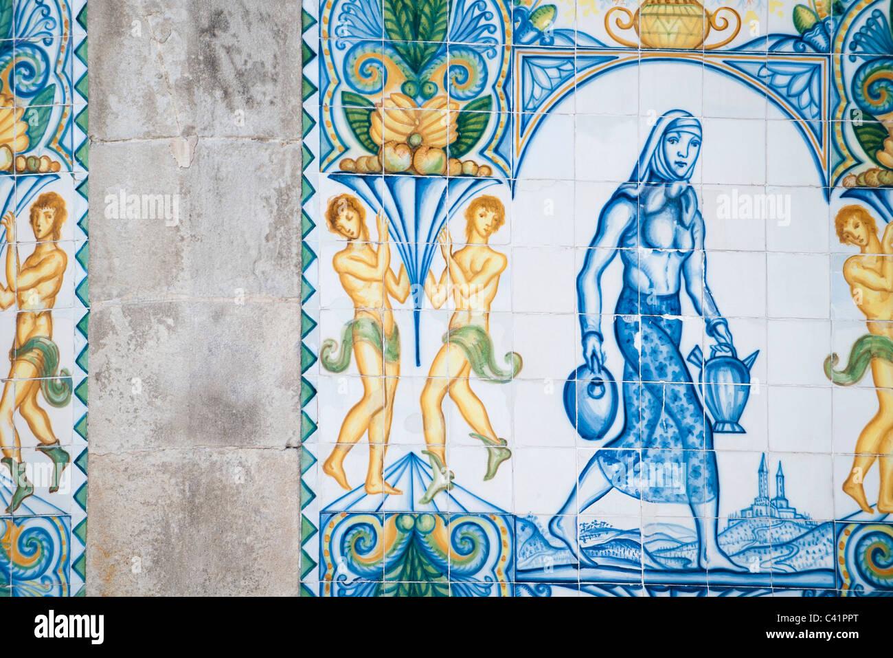 Tiled mural - Stock Image