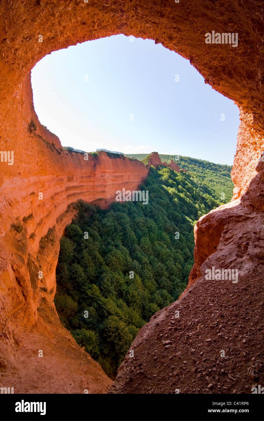 Las Médulas, Roman gold mine one of the UNESCO World Heritage Sites. - Stock Image