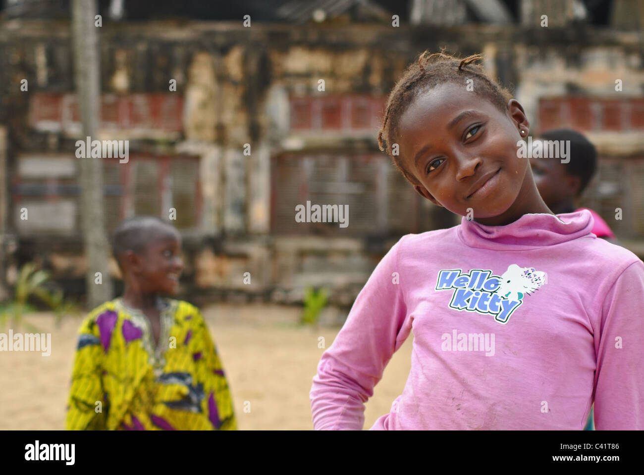 Portrait, Ivory Coast - Stock Image