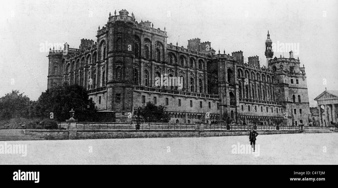 First World War / WWI, Treaty of Saint-Germain, Castle Saint-Germain-en-Laye, exterior view, May 1919, Additional - Stock Image