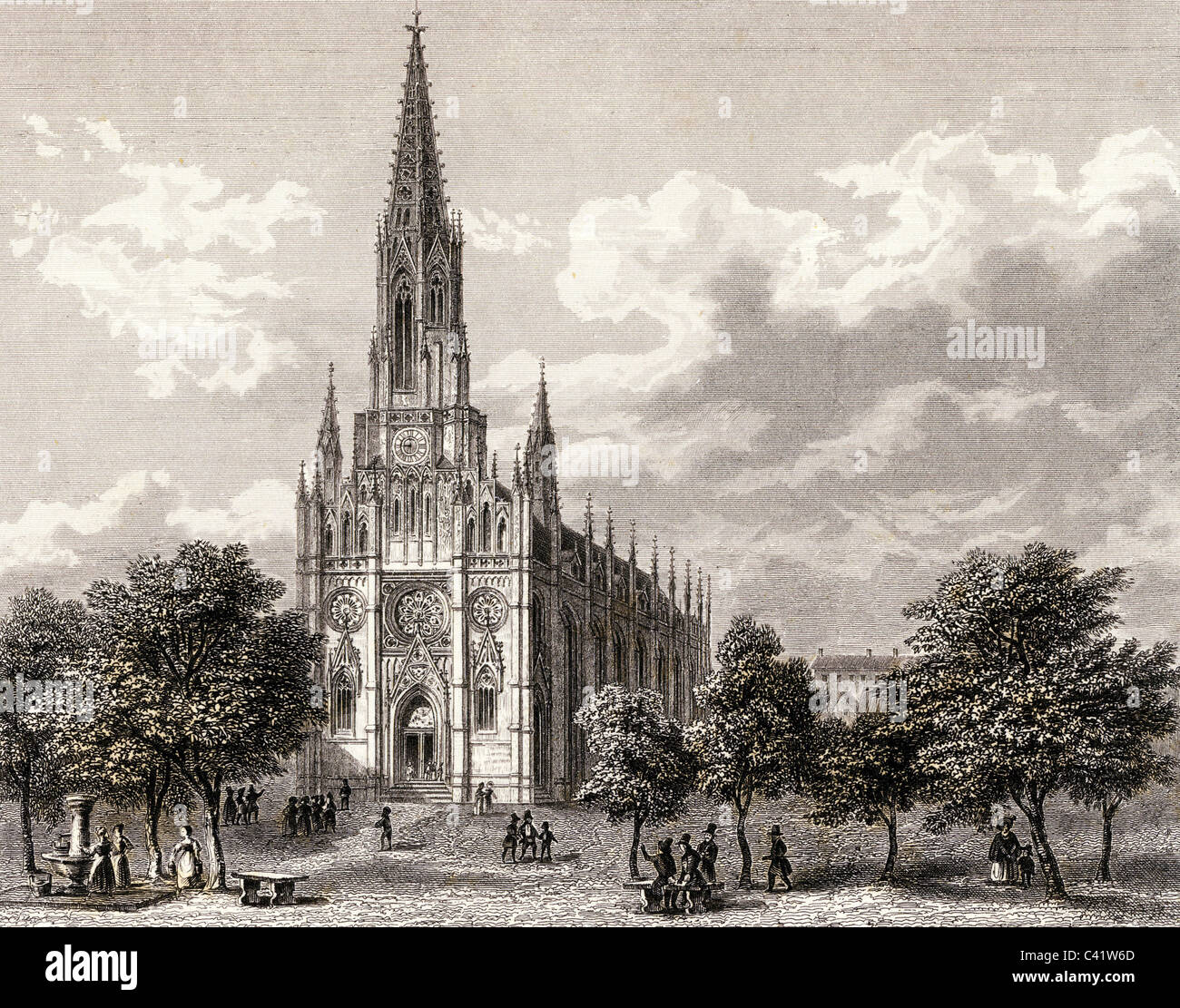 geography / travel, Germany, Munich, Mariahilf Church, built built 1831 - 1839, architects: Joseph Daniel Ohlmueller - Stock Image