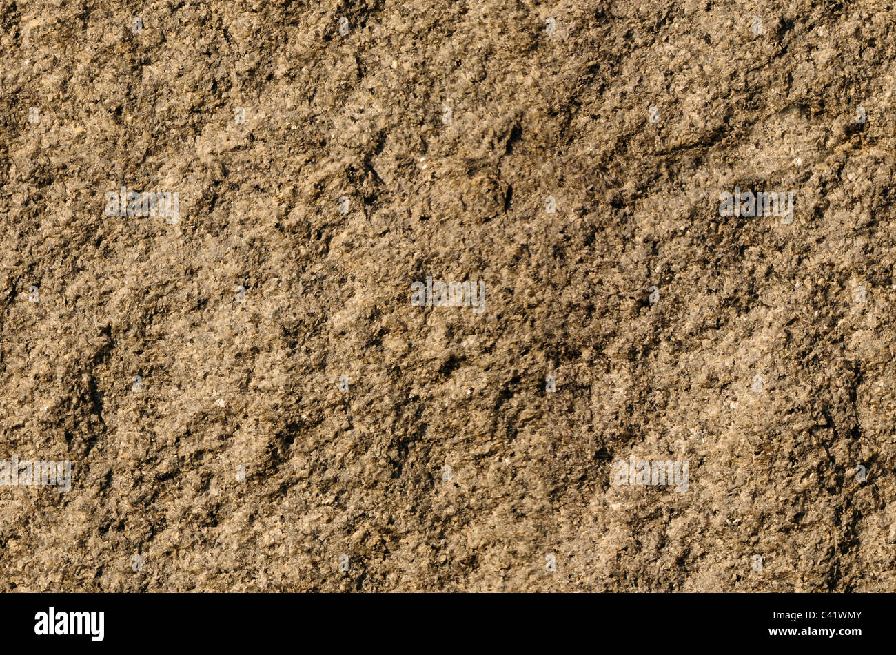 Textured gray rock surface texture background - Stock Image