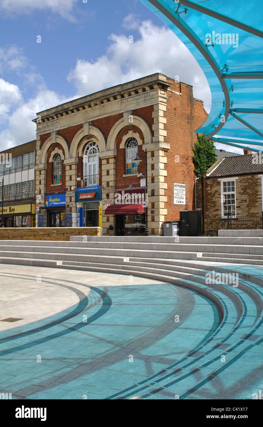 Market Place, Kettering, Northamptonshire, England, UK - Stock Image