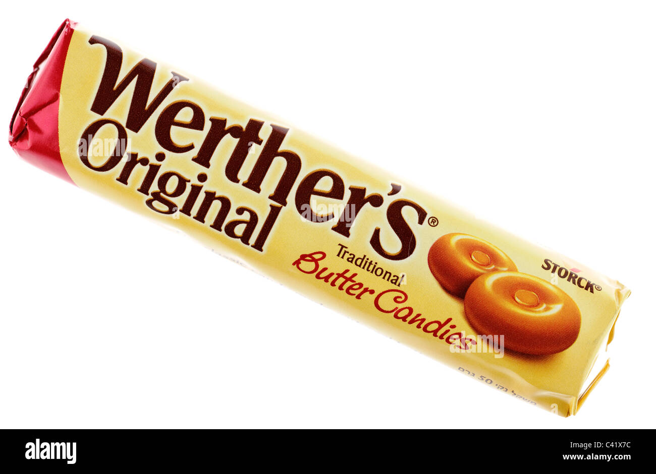 packet of werthers original butter candies sweets stock photo