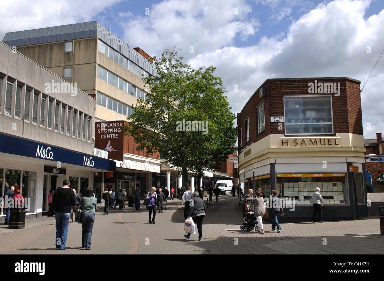 Gold Street, Kettering, Northamptonshire, England, UK - Stock Image
