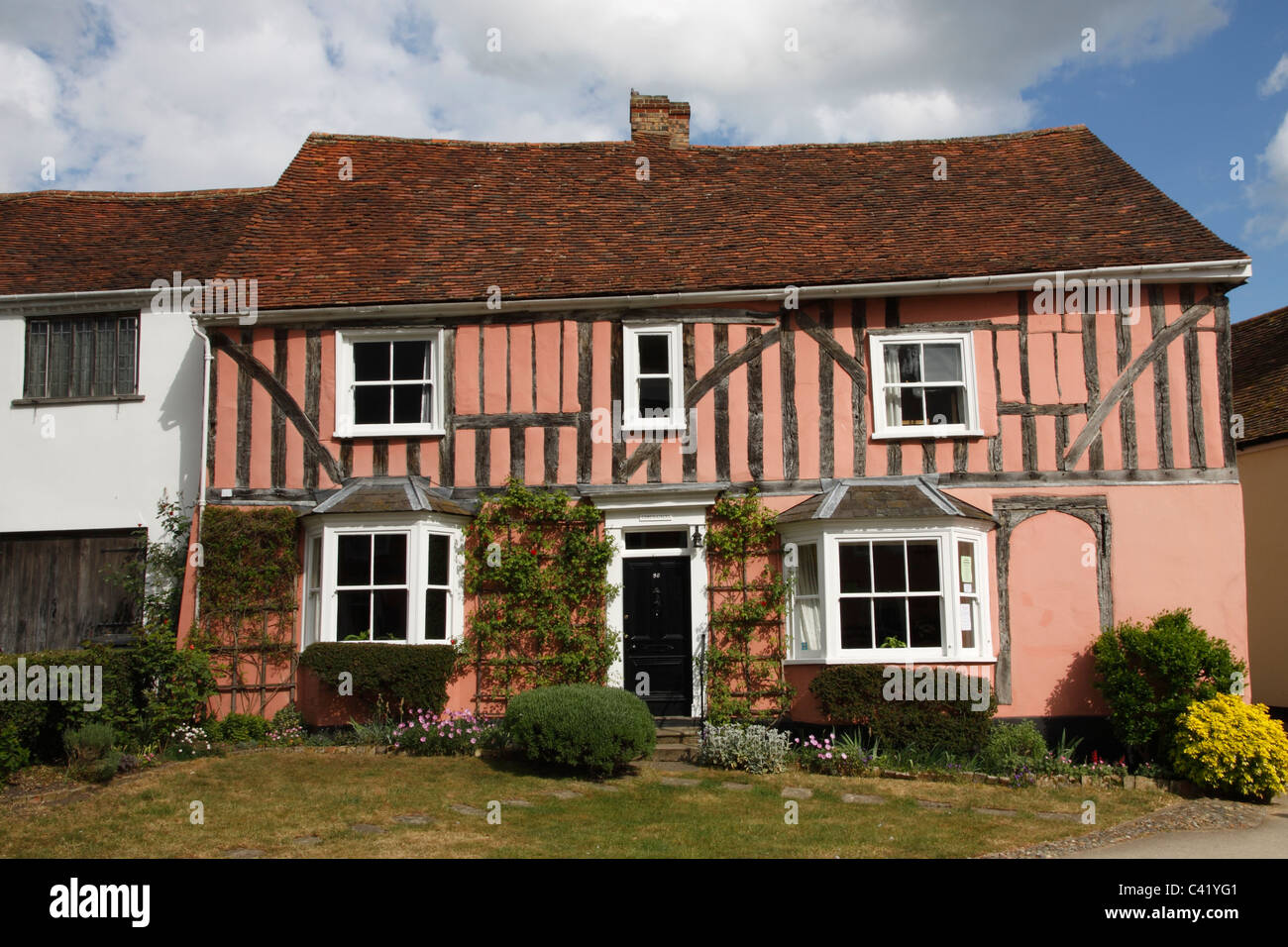 Timber-framed Cottage in Lavenham village Suffolk - Stock Image