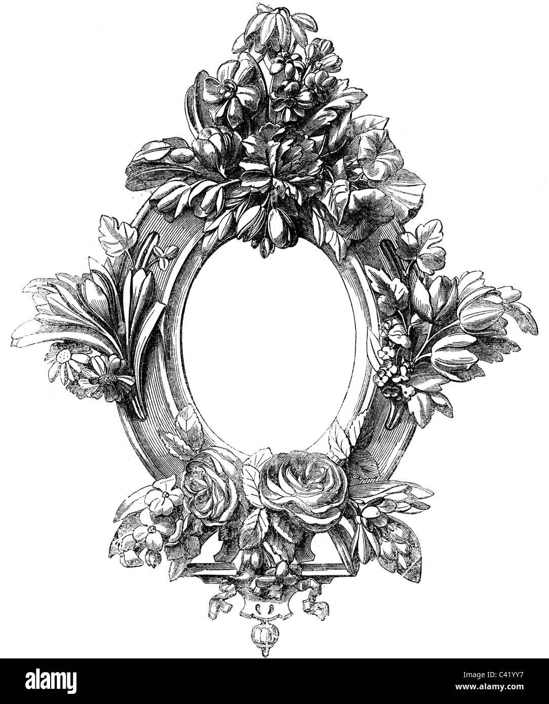 habitation, picture frames, carved frame by W. H. Baylis, wood Stock ...