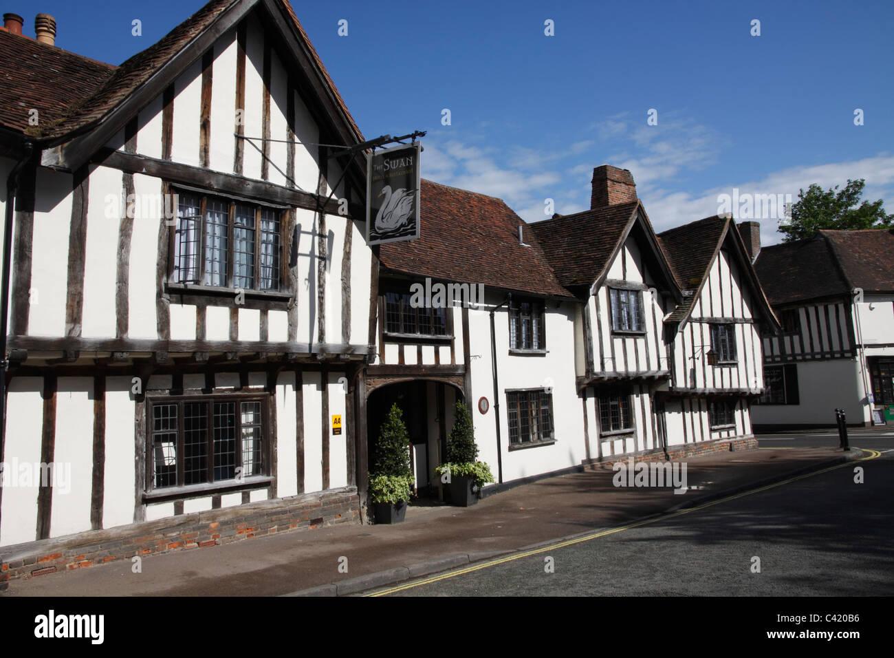 Swan Hotel Lavenham Suffolk - Stock Image