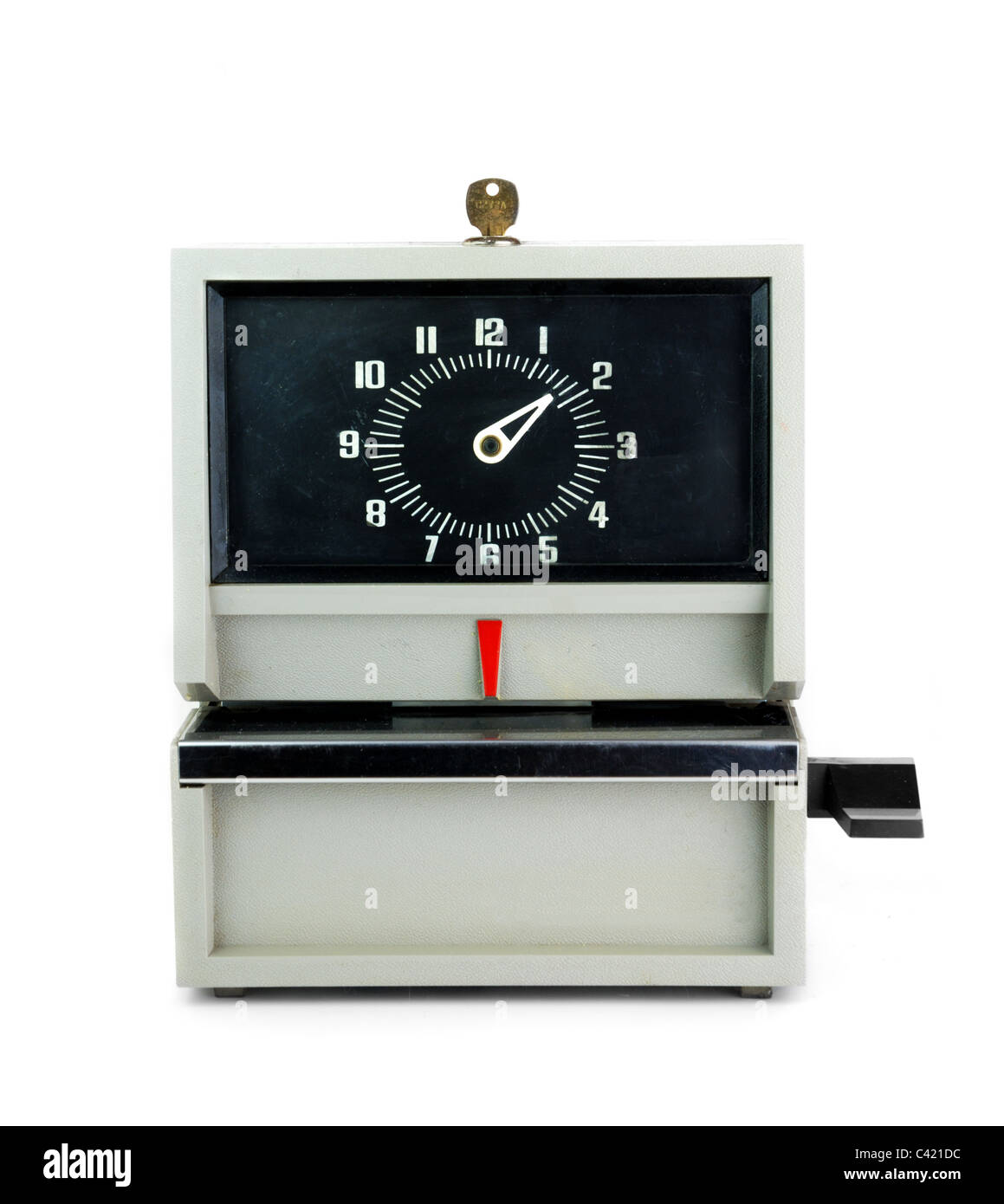 industrial time clock Stock Photo