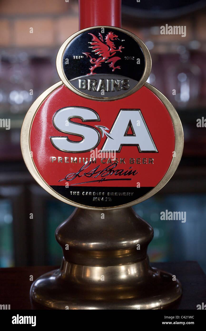 Brains SA Beer Pump - Stock Image