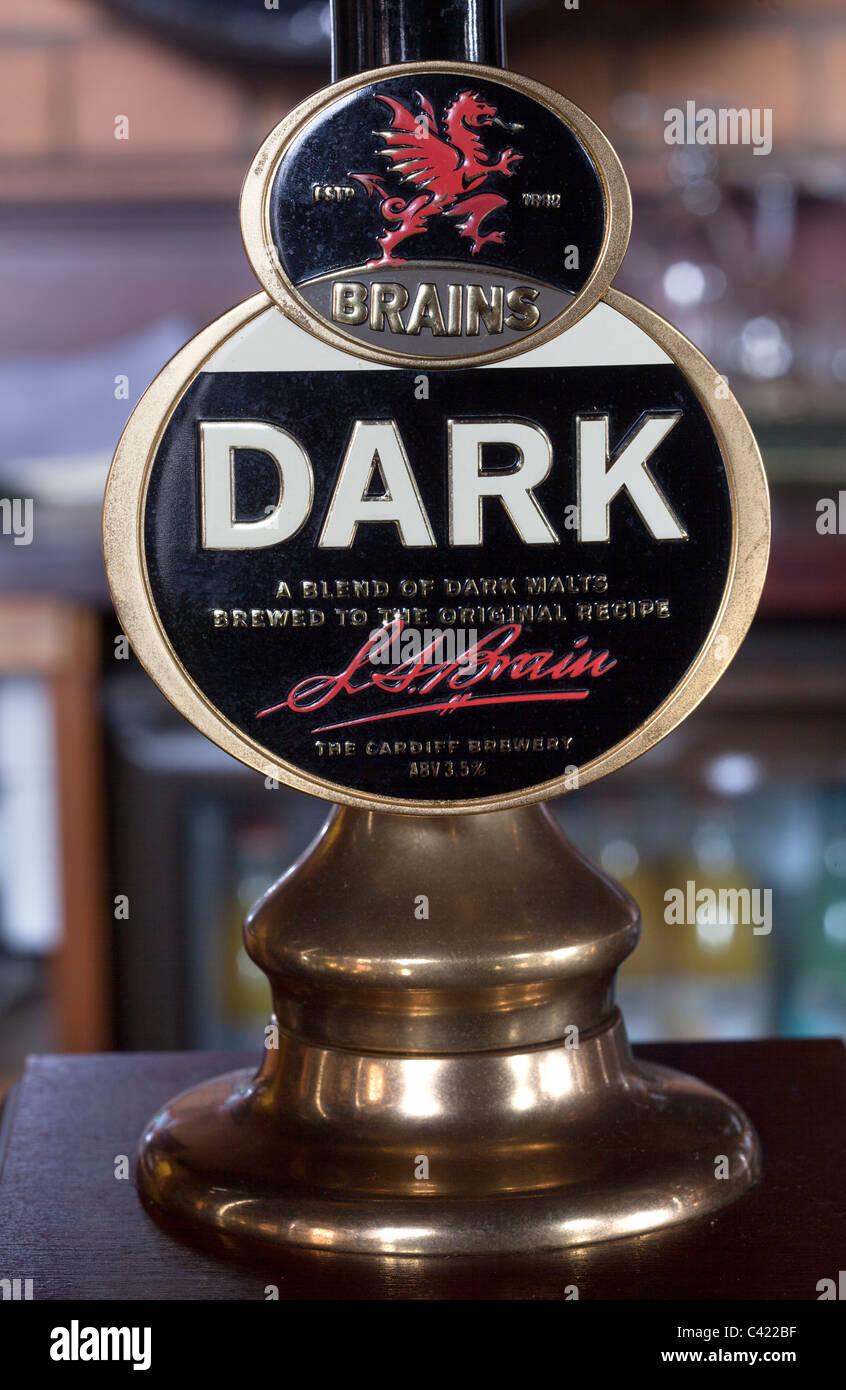 Brains Dark Beer Pump - Stock Image